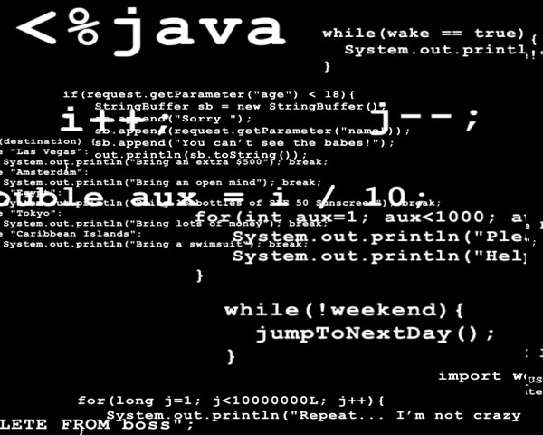 Animated Java Programmers Brain Screensaver